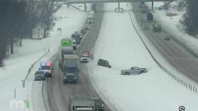 Slick roads lead to 113 crashes Thursday morning, State Patrol says