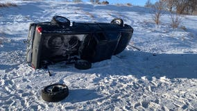 314 crashes, 64 spinouts reported during icy Monday morning commute