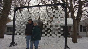 Removed by city, ice sculpture finds new home in St. Paul yard