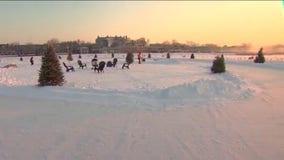 Skating rink on Lake Minnetonka puts winter twist on drive-in movies