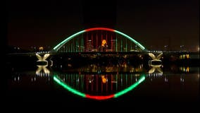 Minneapolis' Lowry Ave. bridge lit up Sunday to honor Black History Month