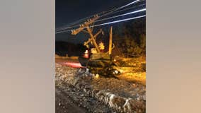 1 injured in crash that took down power lines in Savage, Minnesota