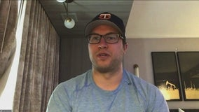 Former Wild goaltender Alex Stalock speaks with Jim Rich as he moves on to Edmonton