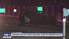 Crash involving Ramsey County squad vehicle in Arden Hills