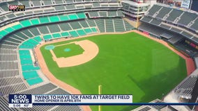 Minnesota Twins can have fans at Target Field at 25% capacity