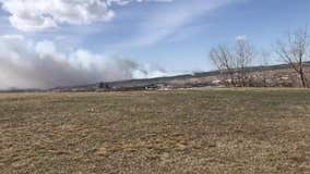 Smoke from brush fire fills the air in Rapid City, South Dakota