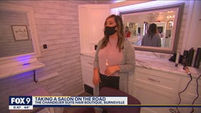 Local stylist rolls out swanky salon on wheels