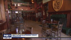 Brit's Pub reopening after damage from unrest