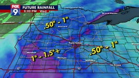 Wet first half of week could bring more than inch of rain to many