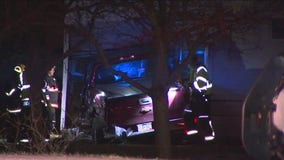 Pickup crashes into house in New Prague, knocks out neighborhood power