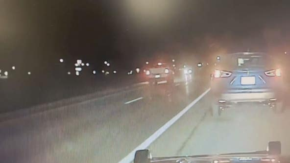Video: Pickup truck swerves to avoid wrong-way driver