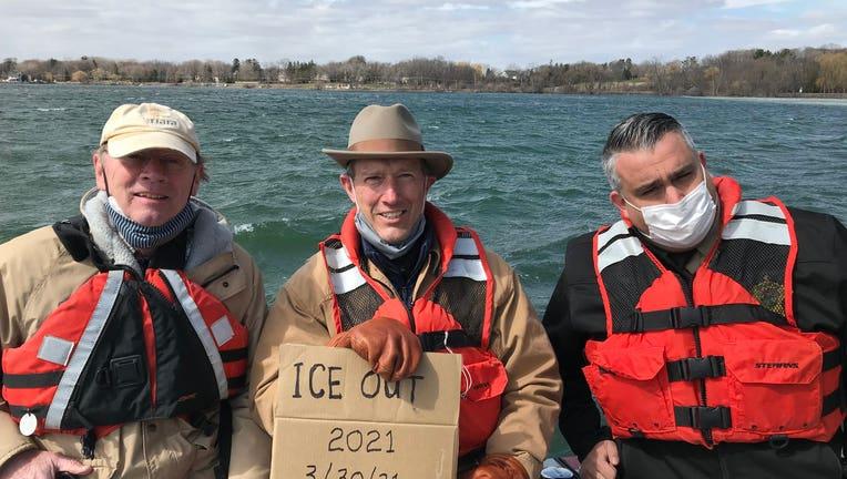 Ice out Lake Minnetonka