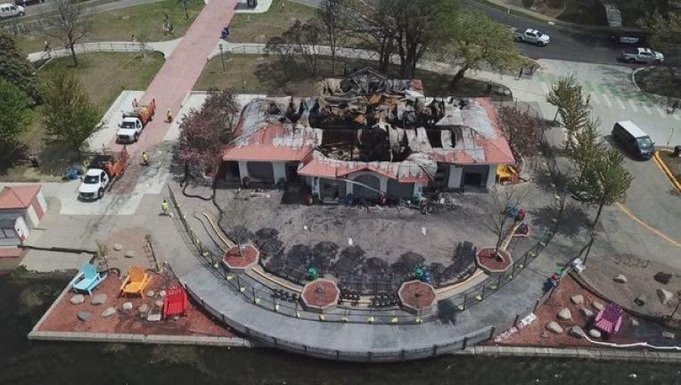 Bde Maka Ska pavilion fire