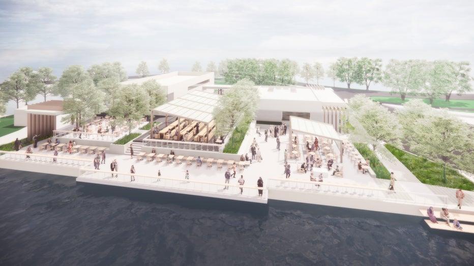Bde Maka Ska pavilion rebuild Concept A
