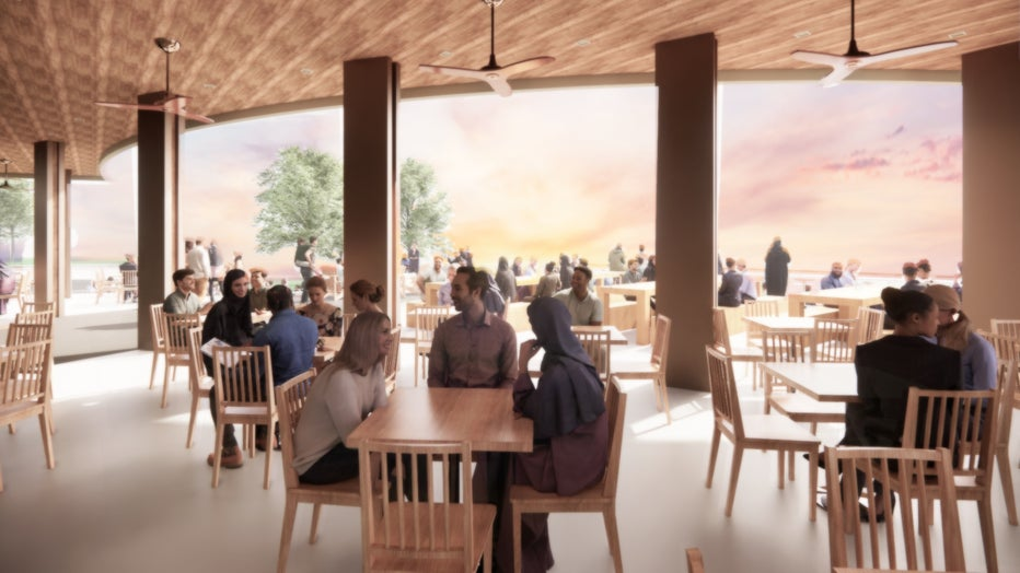 Bde Maka Ska pavilion rebuild Concept B