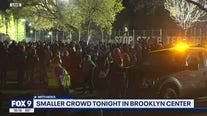 Protests remain mostly quiet in Brooklyn Center ahead of curfew