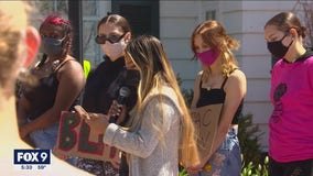 U of M students call for police changes at rally on Gabel's lawn