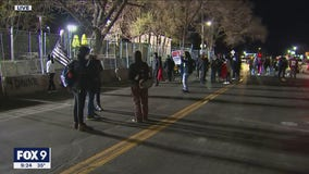 Small group of protesters persist in Brooklyn Center