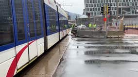 Car crashes with light rail train near Government Center in downtown Minneapolis