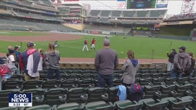 Twins fans return to Target Field for the home opener