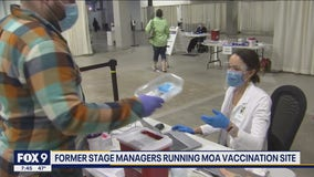 Former stage managers find a new stage directing vaccinations at MOA
