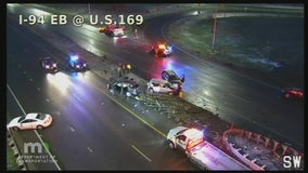 10 vehicles involved in serious injury crash on Hwy. 169 overpass