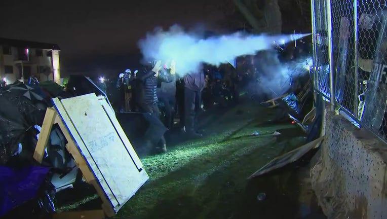 spray protesters