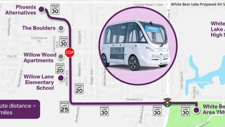 WBL Autonomous vehicle route