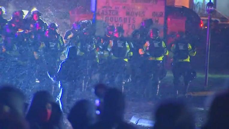 law enforcement crowd control