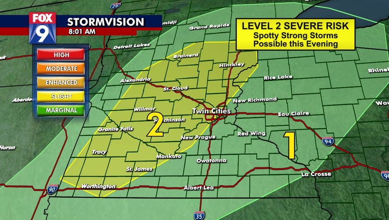 Severe weather risk for Monday, April 5