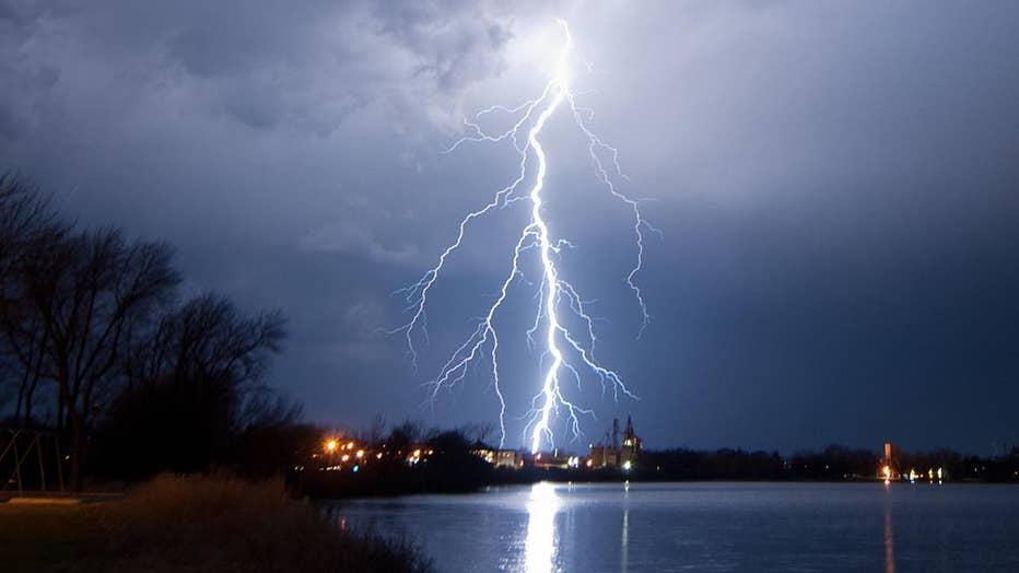 Lightning over Howard Lake