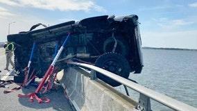 Good Samaritan dives into bay to rescue toddler thrown into water during crash near Ocean City