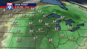 Dew points rising over next few days