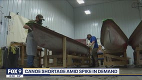 Minnesota canoe makers struggling to keep up with demand
