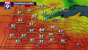 Humid Monday sets the stage for possible evening storm