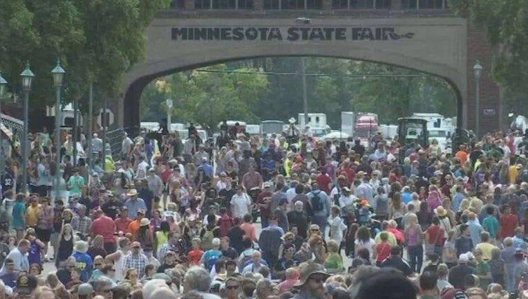 Minnesota State Fair crowds.