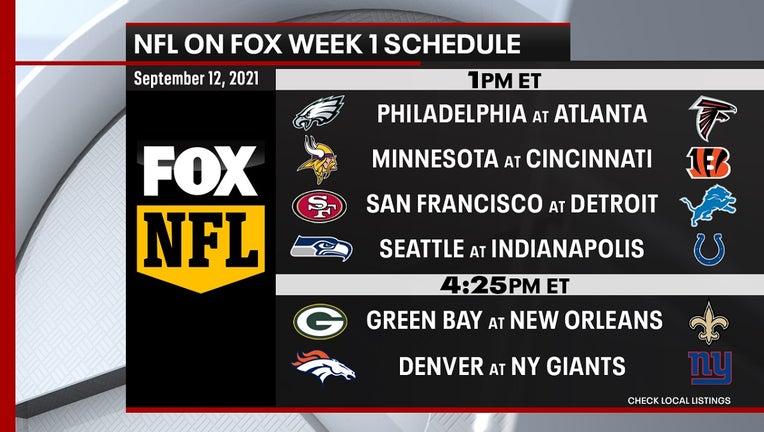 NFL on FOX Week 1 schedule for the 2021 NFL season