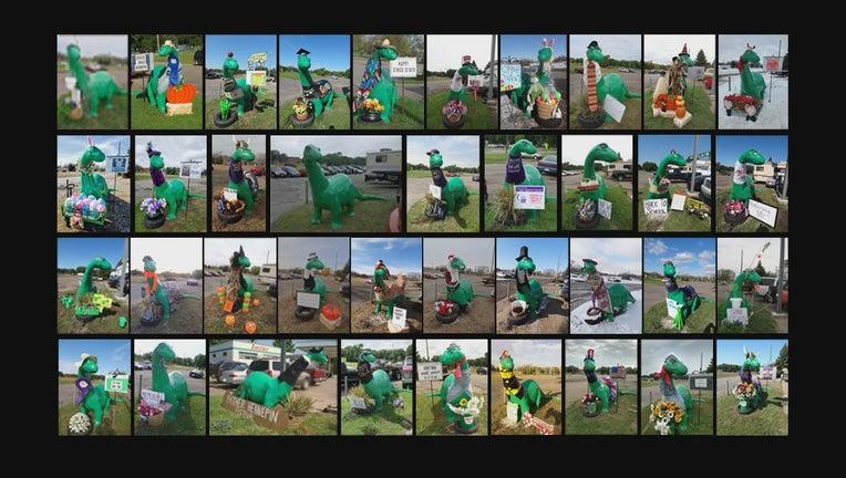 Dino many costumes
