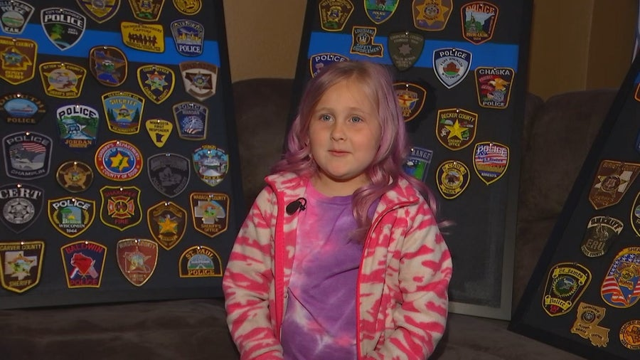 Police and fire departments across country send patches to Belle Plaine girl