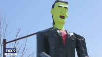 Man charged with arson for burning down well-known Janesville, Minn. Frankenstein statue