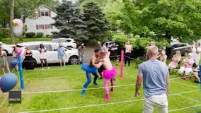 Couple stages pro wrestling-inspired gender reveal