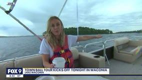 Touring Lake Waconia by boat