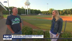 The 20-0 Sartell Muskies v the Sartell Stone Poneys in tonight's FOX 9 Townball match up