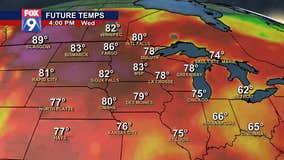 Future temps as summertime heat arrives in Minnesota