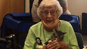 Animal Humane Society volunteer celebrates 100th birthday at shelter
