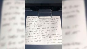 Delta pilot's March 2020 note rediscovered as plane returns to service