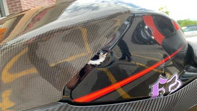Police seeking driver who shot motorcyclist's gas tank while driving on Blaine road
