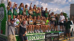 Rockford High girls' track team wins school's 1st state championship in 165 years