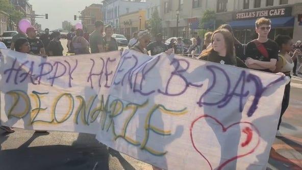 Activists hold rally on birthday of slain protester Deona Marie