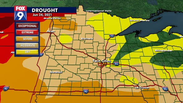 Drought conditions continue to expand in Minnesota, 75% of state now in moderate drought